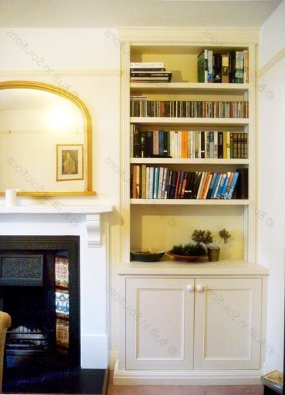 Alcove Shelving Throughout Popular Fitted Cabinets Living Room (Gallery 7 of 15)