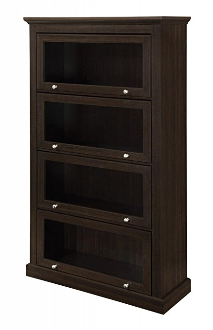 Amazon: Ameriwood Home Alton Alley 4 Shelf Barrister Bookcase Pertaining To Latest Barrister Bookcases (View 3 of 15)