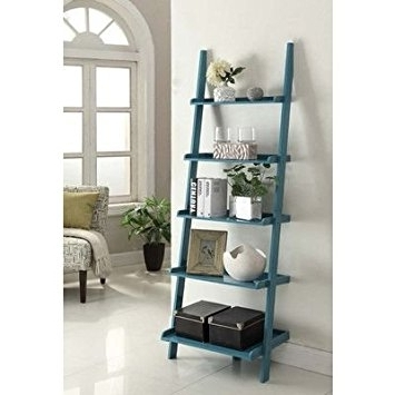 "Amazon: Carlisle 72"" Leaning Bookcasecharlton Home, Blue Within Most Popular Leaning Bookcases (View 4 of 15)"