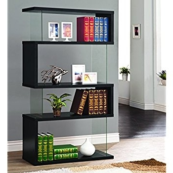 Amazon: Coaster Bookshelf, Black: Kitchen & Dining Within Most Up To Date Coaster Bookcases (View 2 of 15)
