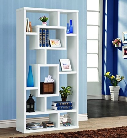 Amazon: Coaster Home Furnishings Modern Contemporary 10 Shelf Throughout Trendy Coaster Bookcases (View 4 of 15)