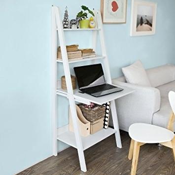 Amazon: Haotian Storage Display Shelving Ladder Shelf Bookcase Regarding Preferred Ladder Shelves (View 14 of 15)