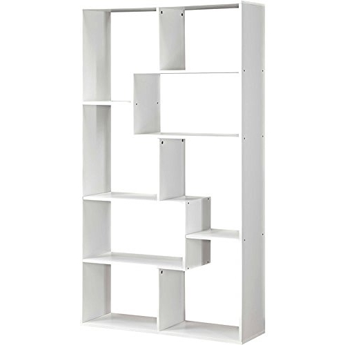 Amazon: Mainstays Home 8 Shelf Bookcase (espresso): Kitchen Intended For Recent Walmart White Bookcases (View 9 of 15)