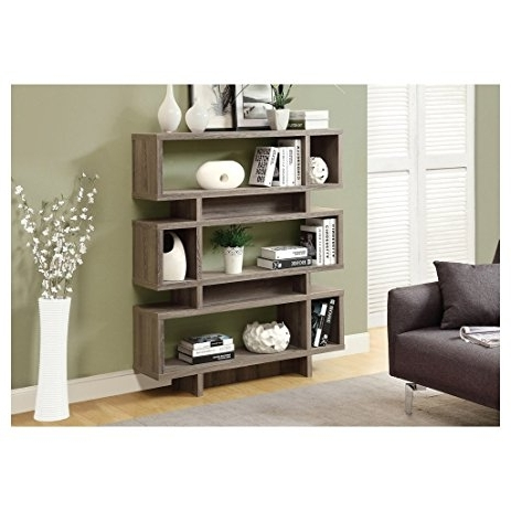 Amazon: Monarch Reclaimed Look Modern Bookcase, 55 Inch, Dark Throughout Most Up To Date Monarch Bookcases (View 2 of 15)