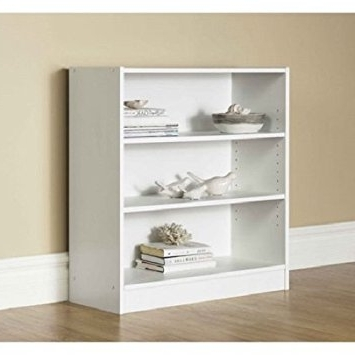 Amazon: Orion Wide 3 Shelf Bookcase (White): Kitchen & Dining Within Best And Newest 3 Shelf Bookcases Walmart (View 4 of 15)