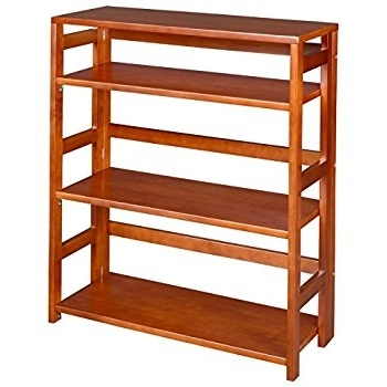 Amazon: Regency Flip Flop 34 Inch High Folding Bookcase Throughout Most Up To Date Folding Bookcases (View 5 of 15)