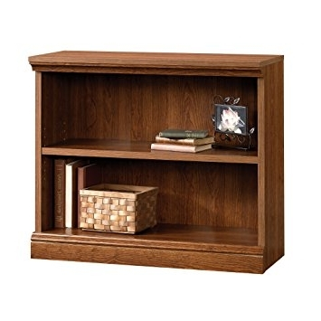 Amazon: Sauder Camden County 2 Shelf Bookcase, Planked Cherry Pertaining To Newest 2 Shelf Bookcases (View 11 of 15)
