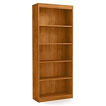 Amazon: South Shore Axess 5 Shelf Bookcase, Country Pine Regarding Latest 5 Shelf Bookcases (View 6 of 15)