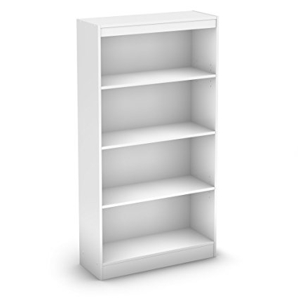 Amazon: South Shore Axess Collection 4 Shelf Bookcase, Pure Intended For Preferred 4 Shelf Bookcases (View 4 of 15)