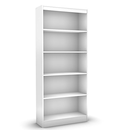 Amazon: South Shore Axess Collection 5 Shelf Bookcase, Pure For Newest Room Essentials 5 Shelf Bookcases (View 3 of 15)