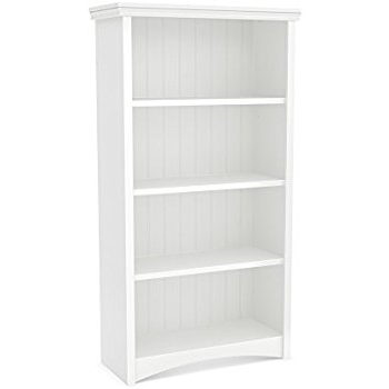 Amazon: South Shore Gascony 4 Shelf Bookcase, Pure White Within Recent 4 Shelf Bookcases (View 5 of 15)