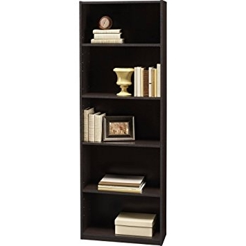 Ameriwood 5 Shelf Bookcases Inside Newest Amazon: Ameriwood 5 Shelf Bookcases, Set Of 2, Espresso (View 4 of 15)