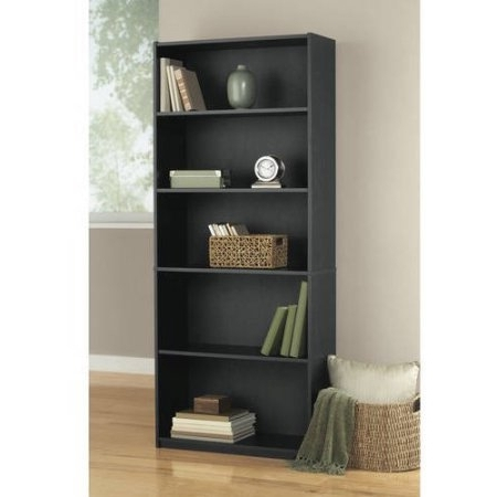 Ameriwood 5 Shelf Bookcases Regarding Well Known Mainstays 5 Shelf Standard Wood Bookcase (View 14 of 15)