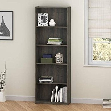 Ameriwood 5 Shelf Bookcases With Regard To Most Popular Amazon: Ameriwood 5 Shelf Bookcase, Set Of 2, Rodeo Oak (View 2 of 15)