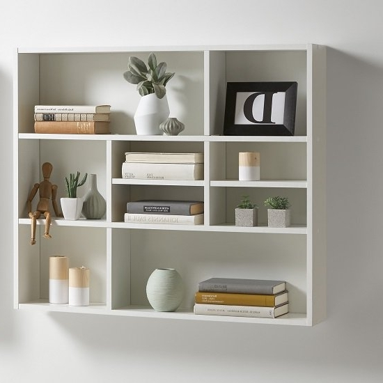 Andreas Wall Mounted Shelving Unit In White Wall Mounted Shelving Intended For Well Liked White Shelving Units (View 1 of 15)