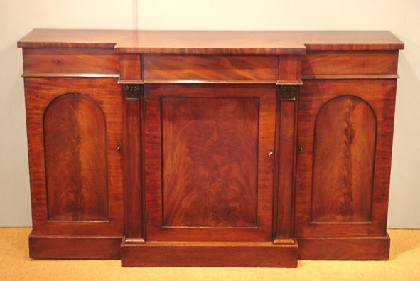 Antique Breakfront Side Cabinet / Victorian Mahogany Breakfront For Favorite Victorian Breakfront Wardrobes (View 2 of 15)