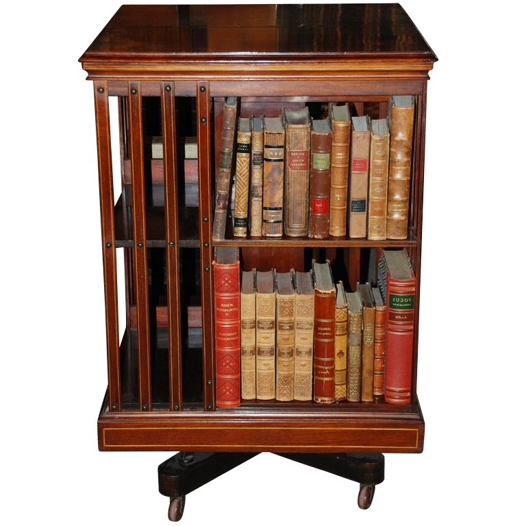 Antique English Revolving Bookcase, C (View 8 of 15)