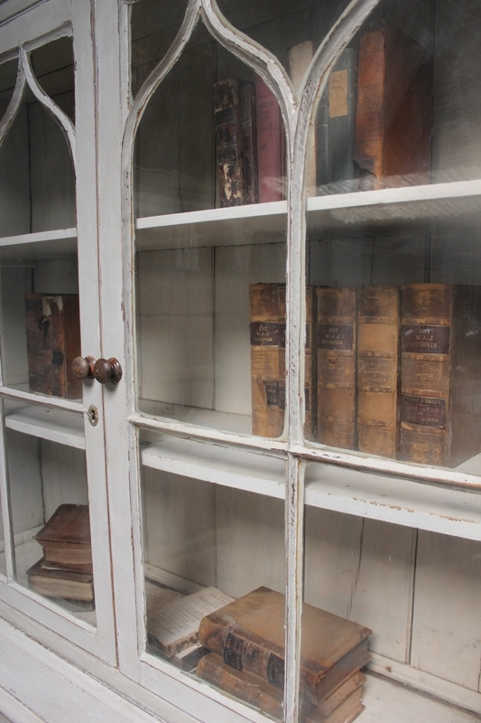 Antique Pine Glazed Bookcase – Bookcases/shelves With Regard To Popular Glazed Bookcases (View 2 of 15)