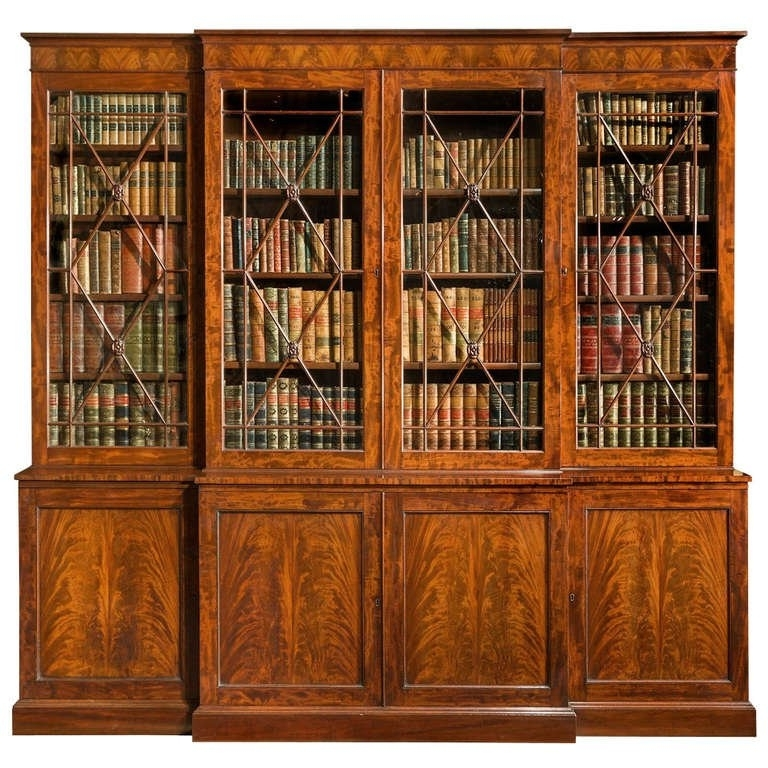 Antique Regency Breakfront Bookcase At 1Stdibs For Most Current Breakfront Bookcases (View 15 of 15)
