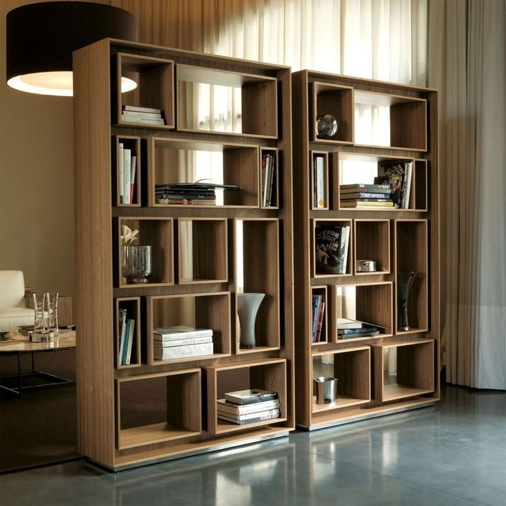 Apartment Inside Contemporary Bookcases (View 1 of 15)