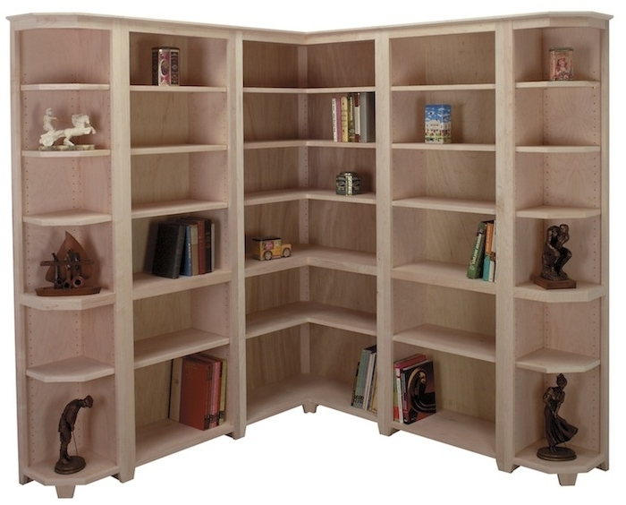 Arthur Brown Custom Corner Bookcases With Regard To Favorite Corner Bookcases (View 2 of 15)