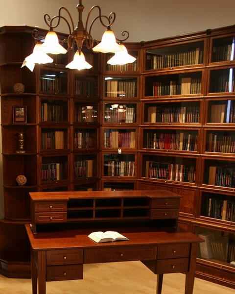 Barrister Bookcases Photo Bookcases In A Home Library Home Library Inside Popular Barrister Bookcases (View 7 of 15)