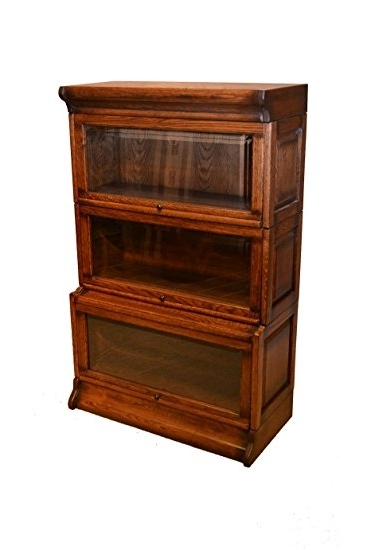 Barrister Bookcases With Well Liked Amazon: Arts And Crafts Mission Oak 3 Stack Barrister Bookcase (View 8 of 15)