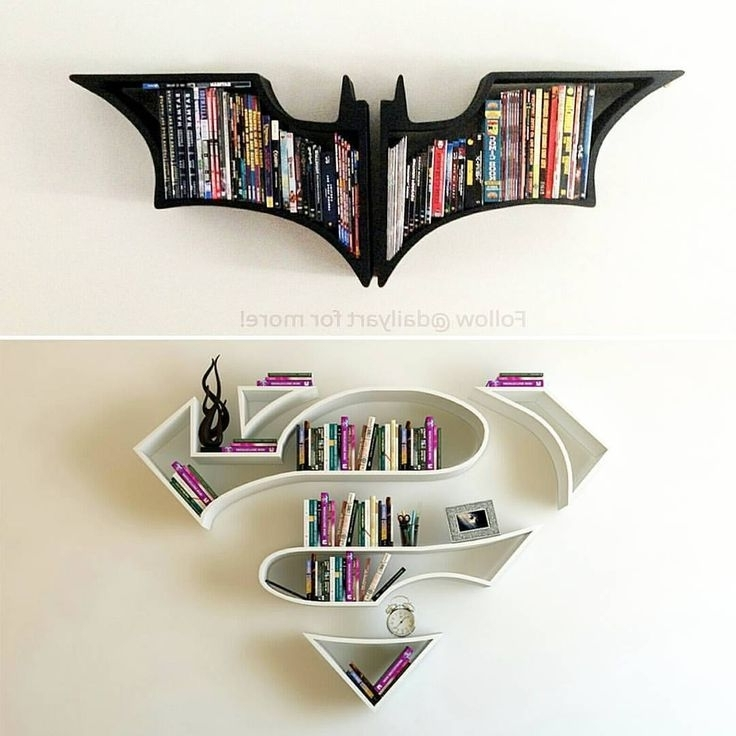 "Batman Bookcases With Regard To Favorite Check Out New Work On My @behance Portfolio: ""superman, Logo (View 6 of 15)"
