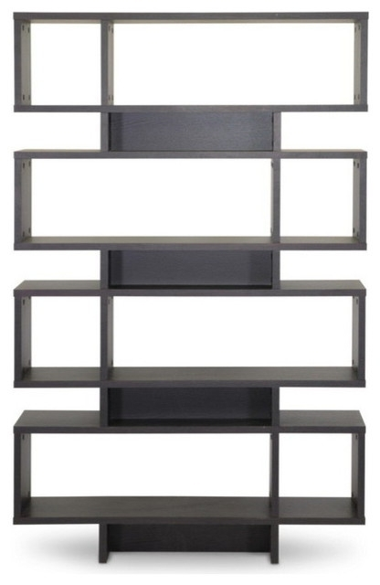 Baxton Studio – Cassidy 8 Tier Bookshelf, Dark Brown – View In Intended For Fashionable Contemporary Bookcases (View 14 of 15)