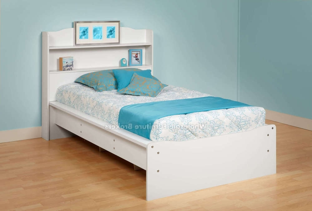 Bedroom : Pretty Shore Summer Breeze Twin Bookcase Headboard And Intended For Well Known Twin Headboard Bookcases (View 3 of 15)