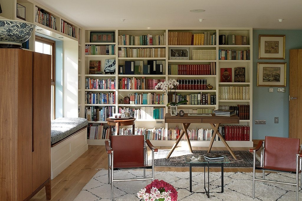 Bespoke Fitted Library (View 1 of 15)