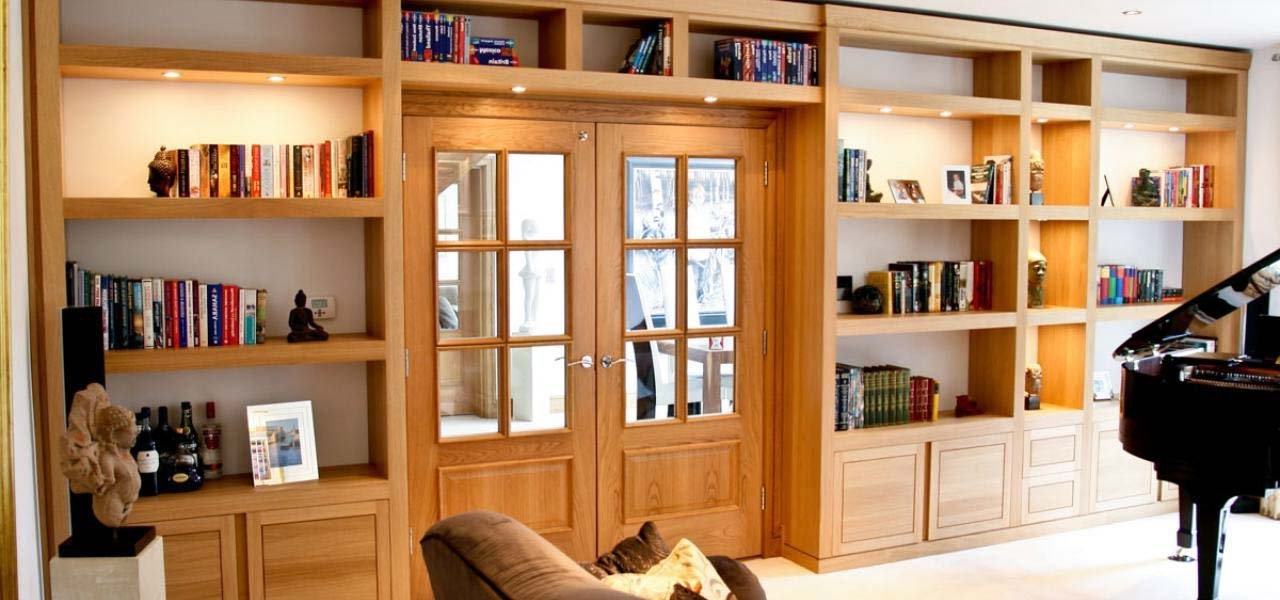Bespoke Library Designs In Solid Oak & Walnut Pertaining To Well Known Bespoke Library (View 3 of 15)