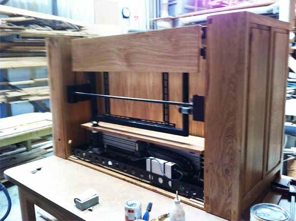 Bespoke Oak & Wooden Tv Cabinets Handmade In The Uk Inside Most Popular Hidden Tv Units (View 3 of 15)
