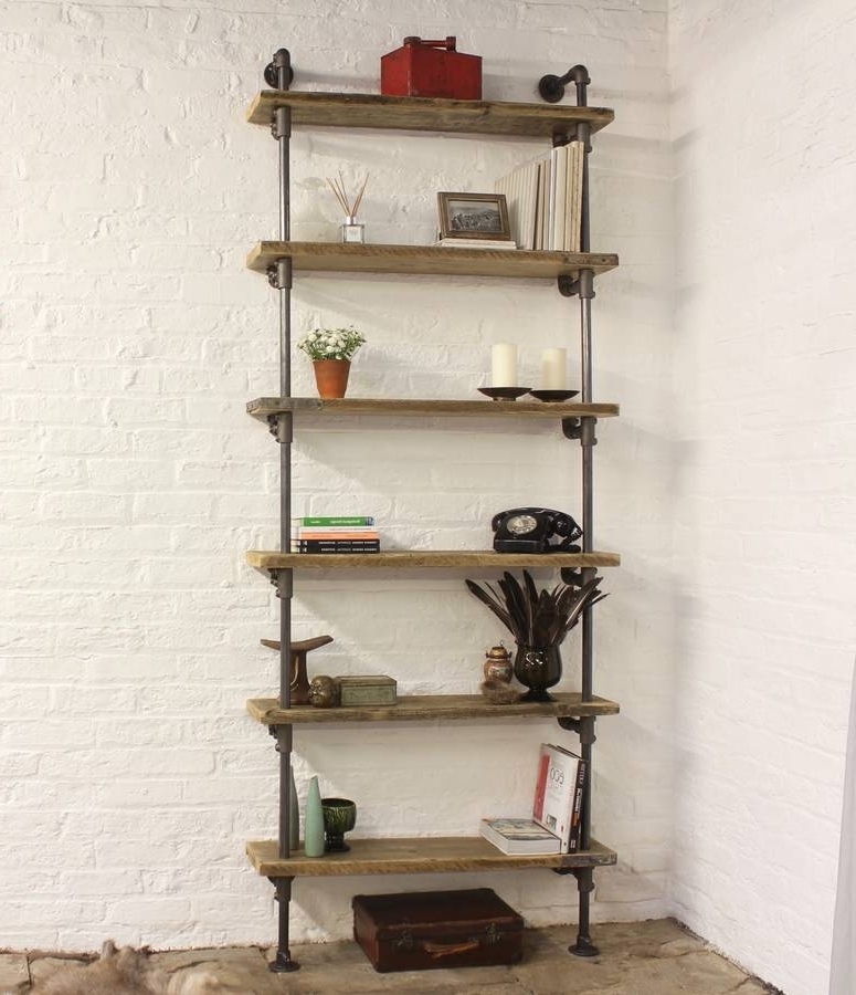 Bespoke Shelves With Newest Holmes Bespoke Reclaimed Scaffolding Board Shelvesurban Grain (View 4 of 15)