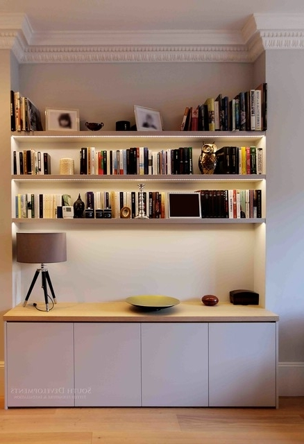 Bespoke Shelving In Newest Bespoke Tv Unit (cupboards & Shelving) With Integrated Led (View 4 of 15)