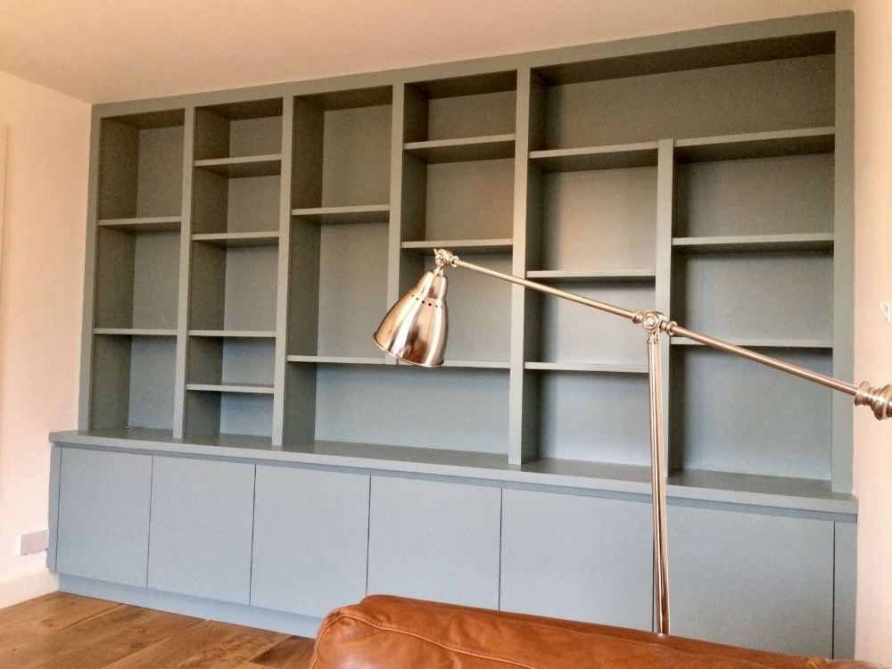 Bespoke Shelving With Regard To Most Current Bespoke Contemporary Shelving Unit In Richmond – The Bookcase Co (View 6 of 15)