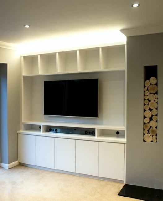 Bespoke Tv Cabinet Intended For Fashionable Built In Tv Media Units (View 3 of 15)