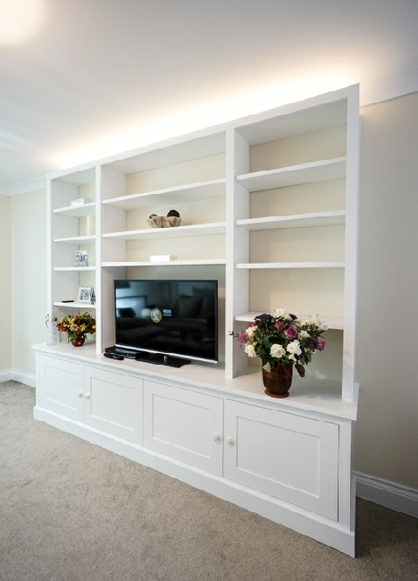 Bespoke Tv Cabinets Intended For Popular Built In Tv Media Units (View 7 of 15)