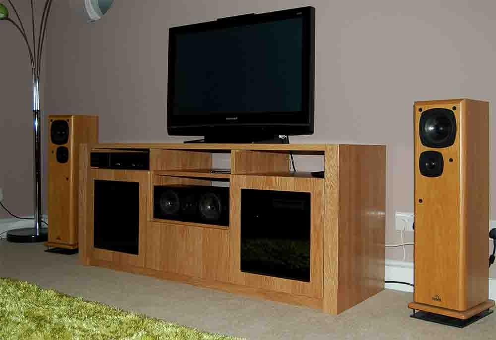 Bespoke Tv Stands For Most Recently Released Oak Av Furniture, Oak Av Cabinets, Oak Tv Stands, Oak Media Wall (View 1 of 15)