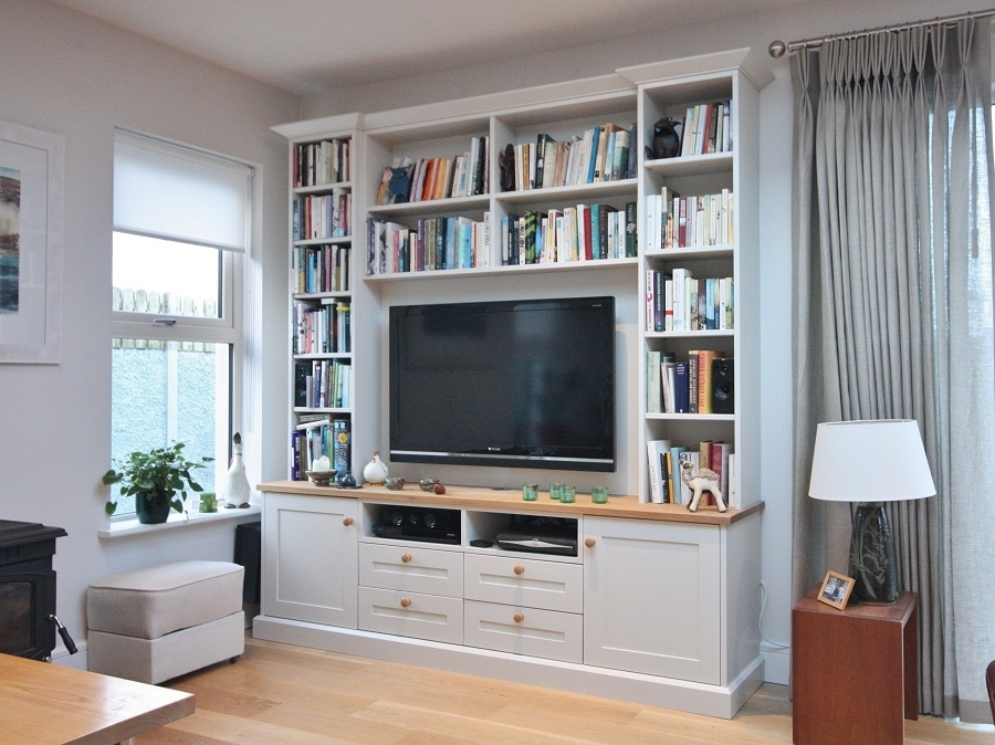 Bespoke Tv Unit Within Trendy Enigma Design » Tv And Alcove Units (Gallery 3 of 15)