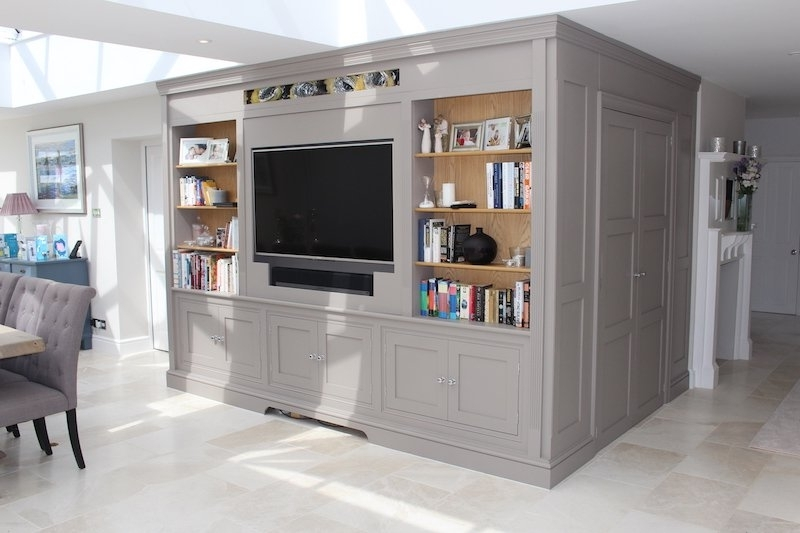 Bespoke Tv Units Pertaining To Well Known Bespoke Hand Made Tv Unit – Specialist Carpenter And Joiner (View 7 of 15)