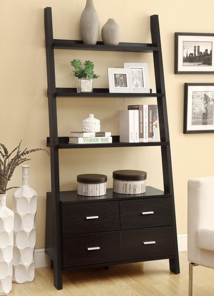 Best 22 Leaning Ladder Bookshelf And Bookcase Collection For Your Regarding Most Popular Ladder Bookcases (View 6 of 15)