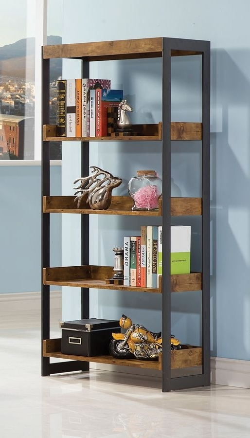 Best 25 Metal Bookcase Ideas On Pinterest Wood And Metal Within Throughout Most Up To Date Metal And Wood Bookcases (View 2 of 15)
