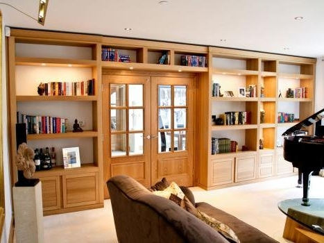 Best And Newest Bespoke Libraries Pertaining To Made To Measure Bookshelves In Solid Oak & Walnut (View 6 of 15)