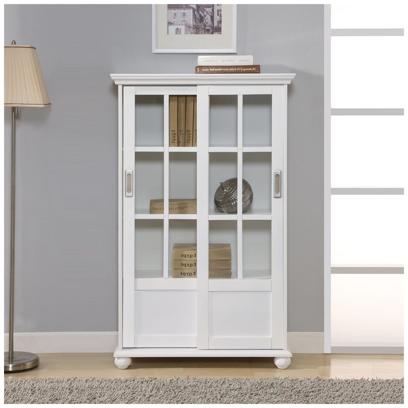 Best And Newest Bookcases With Doors With Red Barrel Studio Wally Standard Bookcase Reviews Wayfair (View 3 of 15)