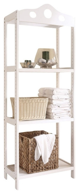 Featured Photo of Free Standing White Shelves