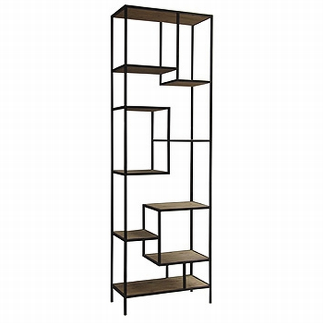 Best And Newest Iron And Wood Bookcases With Regard To Large Lena Wood And Iron Bookcase – Mecox Gardens (View 1 of 15)