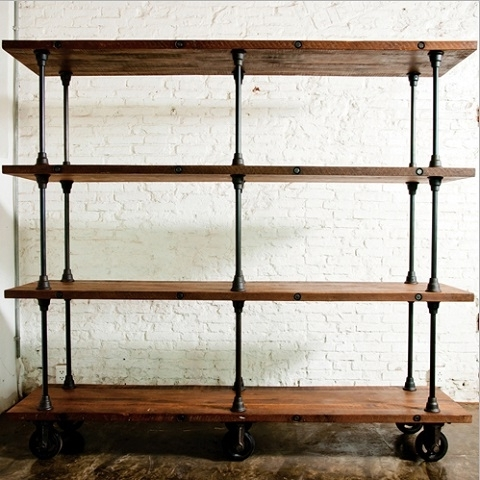Best And Newest Metal And Wood Bookcases For Amazing Wood Metal Shelves Best 25 Ideas On Pinterest Intended For (View 3 of 15)