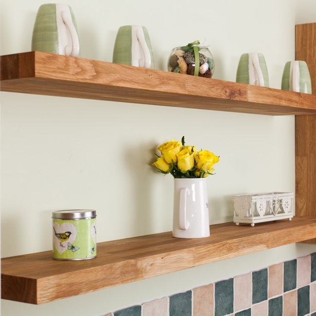 Best And Newest Oak Floating Shelves, Oak Shelves & Floating Solid Oak Shelves Regarding Solid Oak Shelves (View 2 of 15)