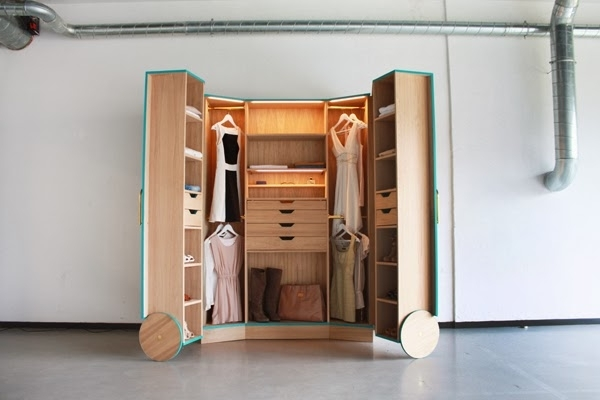 Best And Newest Space Savers Wardrobes Space Saving Walk In Closet Icreatived Pertaining To Space Saving Wardrobes (View 6 of 15)